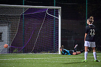 RSC Anderlecht scored during a female soccer game between RSC Anderlecht Dames and Eendracht Aalst Ladies  on the fourth matchday of the 2020 - 2021 season of Belgian Womens Super League , Tuesday 13 th of October 2020  in ANDERLECHT , Belgium . PHOTO SPORTPIX.BE | SPP | STIJN AUDOOREN