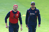 Alastair Cook (R) and Nick Browne of Essex ahead of Essex CCC vs Hampshire CCC, Specsavers County Championship Division 1 Cricket at The Cloudfm County Ground on 20th May 2017
