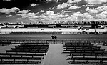 June 19, 2020: A horse exercises on the track as horses prepare for the Belmont Stakes at Belmont Park in Elmont, New York. (Image made with a modified infrared sensor camera) Scott Serio/Eclipse Sportswire/CSM