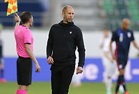 ST. GALLEN, SWITZERLAND - MAY 30: Gregg Berhalter head coach of USMNT paces the sideline during a game between Switzerland and USMNT at Kybunpark on May 30, 2021 in St. Gallen, Switzerland.
