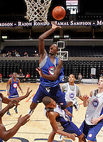 Dorian Finney-Smith at the NBPA Top100 camp June 19, 2010 at the John Paul Jones Arena in Charlottesville, VA. Visit www.nbpatop100.blogspot.com for more photos. (Photo © Andrew Shurtleff)