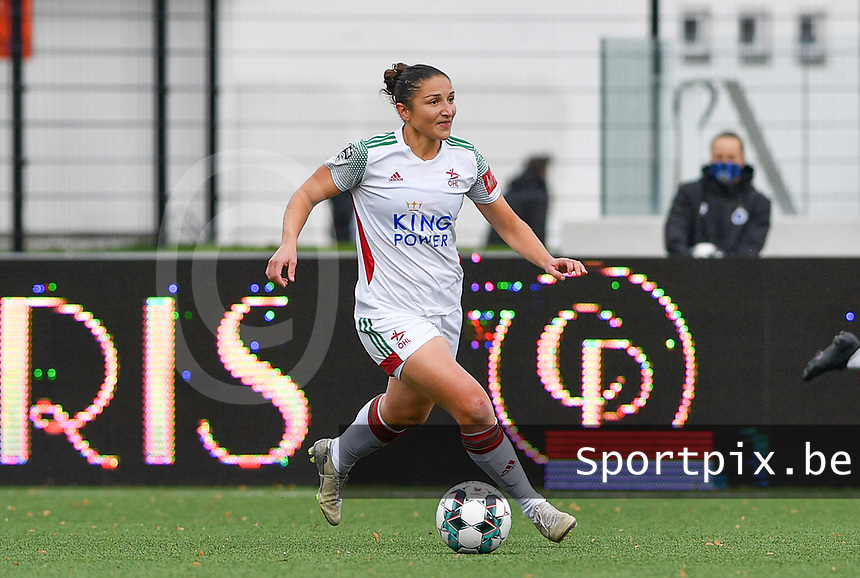 OHL's Sara Yuceil pictured during a female soccer game between Club Brugge Dames YLA and Oud Heverlee Leuven on the 8 th matchday of the 2020 - 2021 season of Belgian Scooore Womens Super League , saturday 21 th November 2020  in Knokke , Belgium . PHOTO SPORTPIX.BE | SPP | DAVID CATRY