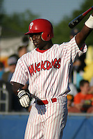 July 19, 2003:  infielder Tim Moss of the Batavia Muckdogs during a game at Dwyer Stadium in Batavia, New York.  Photo by:  Mike Janes/Four Seam Images