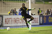 Kingston, Jamaica - Friday, June 7, 2013: USMNT 2-1 over Jamaica  during World Cup qualifying at the National Stadium. Jozy Altidore scores on Donovan Ricketts.