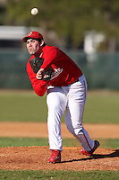 February 28, 2010:  Pitcher Eric Best of the Ohio Buckeyes during the Big East/Big 10 Challenge at Raymond Naimoli Complex in St. Petersburg, FL.  Photo By Mike Janes/Four Seam Images