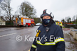 Paudie Mangan Killarney fireman working with the clean up  in Fossa village on Tuesday morning