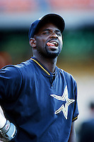 Carl Everett of the Houston Astros before a 1999 Major League Baseball season game against the Los Angeles Dodgers in Los Angeles, California. (Larry Goren/Four Seam Images)