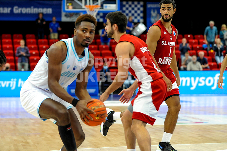 GRONINGEN - FIBA Basketbal-bubbel. finale, Donar - Lisboa Benfica seizoen 2021-2022, 01-10-2021, Donar speler Donte Ingram