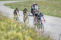 Guillaume Martin (FRA/Wanty-Groupe Gobert) up the Col de Saisies (Cat1/1663m)<br /> <br /> 69th Critérium du Dauphiné 2017<br /> Stage 8: Albertville > Plateau de Solaison (115km)