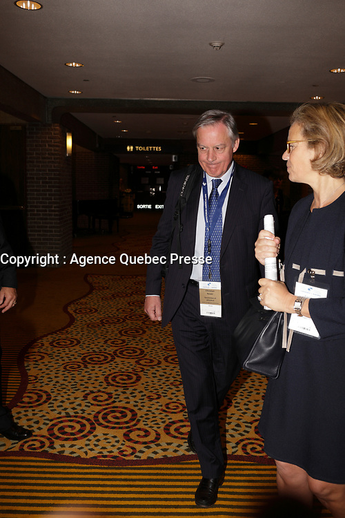 Montreal, CANADA, June, 2015  File Photo<br /> <br /> Christian Noyer,<br /> Governor of the Bank of France ,attend the The International Economic Forum of the Americas<br /> <br /> Photo :   Pierre Roussel - AQP