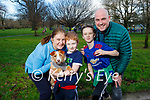 Enjoying a walk in the Tralee town park on Friday, l to r: Edel, Noah, Alan and Alex Finn with Rico the dog.
