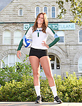 A few images from the Tulane Women's Volleyball Team photoshoot in front of Gibson Hall on the campus of Tulane University.