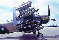 Douglas A-1 Skyraider (The Proud American) on Static Display - at Abbotsford International Airshow, BC, British Columbia, Canada