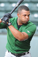 Brandon Meredith of the Lexington Legends, a Houston Astros affiliate, prior to a game against the Greenville Drive on May 2, 2012, at Fluor Field at the West End in Greenville, South Carolina. Kvasnicka is the No. 25 prospect for the Astros, according to Baseball America. Lexington won, 4-2. (Tom Priddy/Four Seam Images)