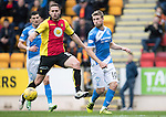 St Johnstone v Partick Thistle…29.10.16..  McDiarmid Park   SPFL<br />David Wotherspoon passes the ball to Steven MacLean who scores saints goal<br />Picture by Graeme Hart.<br />Copyright Perthshire Picture Agency<br />Tel: 01738 623350  Mobile: 07990 594431