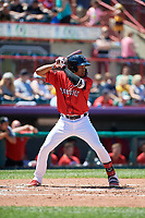 Erie SeaWolves Jose Azocar (24) at bat during an Eastern League game against the Harrisburg Senators on June 30, 2019 at UPMC Park in Erie, Pennsylvania.  Erie defeated Harrisburg 4-2.  (Mike Janes/Four Seam Images)