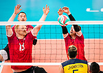 Bryce Foster and Darek Symonowics, Lima 2019 - Sitting Volleyball // Volleyball assis.<br />