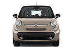 Car photography straight front view of a 2017 Fiat 500L Lounge 5 Door Mini MPV Front View