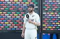 Kane Williamson, New Zealand speaks at the post match presentation during India vs New Zealand, ICC World Test Championship Final Cricket at The Hampshire Bowl on 23rd June 2021