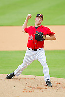 Kannapolis Intimidators starting pitcher Tony Bucciferro (32) in action against the Lexington Legends at CMC-Northeast Stadium on July 31, 2013 in Kannapolis, North Carolina.  The Intimidators defeated the Legends 3-2.  (Brian Westerholt/Four Seam Images)