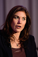 Philadelphia, PA - Saturday January 20, 2018: Hope Solo during the U.S. Soccer Federation Presidential Election Candidates Forum hosted by US Youth Soccer at the Philadelphia Marriott Downtown Grand Ballroom.