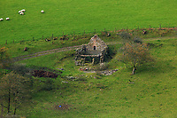 A dilapidated farm house in Llangammarch Wells, Powys, Wales, UK