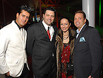 Amir Senemar, Angelo and Vika Soto and Jeff Brock at the Houston Young People for the Arts Fire & Ice Gala at the Houston Pavilions Saturday Jan. 24, 2009.(Dave Rossman/For the Chronicle)