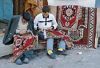 - carpets shop in Erzurum (south-oriental Turkey, Turkish Kurdistan) ....- bottega di tappeti ad Erzurum (Turchia sud-orientale, Kurdistan turco)