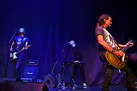 LONDON, ENGLAND - SEPTEMBER 10: Mike Edwards, Iain Baker and Jerry De Borg of 'Jesus Jones' performing at The Roundhouse, Camden on September 10, 2021 in London, England.<br /> CAP/MAR<br /> ©MAR/Capital Pictures