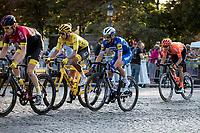 Yellow Jersey Egan Bernal (COL/Ineos) and Julian Alaphillipe (FRA/Deceuninck Quick Step) riding the Champs-Elysées cobbles. <br /> <br /> Stage 21: Rambouillet to Paris (128km)<br /> 106th Tour de France 2019 (2.UWT)<br /> <br /> ©kramon