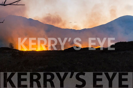 Fire between Dinis and Eagles Nest in the Killarney National Park last Sunday evening.