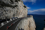 The peloton approach the Ligurian coast during the 112th edition of Milan-San Remo 2021, running 299km from Milan to San Remo, Italy. 20th March 2021. <br /> Photo: Bora-Hansgrohe/Luca Bettini/BettiniPhoto   Cyclefile<br /> <br /> All photos usage must carry mandatory copyright credit (© Cyclefile   Luca Bettini/BettiniPhoto/Bora-Hansgrohe)