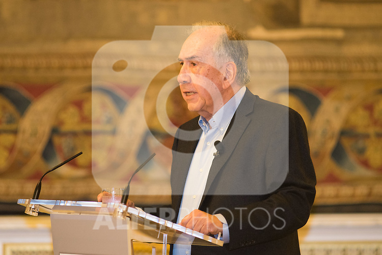 Joan Margarit during the Queen Sofia Poetry Awards Gala at Royal Palace in Madrid. November 22 2019. (Alterphotos/Francis Gonzalez)