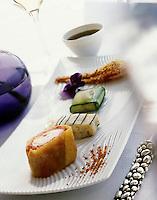 """Europe/France/Provence-Alpes-Côte d'Azur/13/Bouches-du-Rhône/Marseille: recette de Gérald Passédat chef du restaurant """"Le Petit Nice"""", Langoustines au jus pressé"""