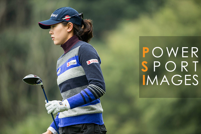 Jung Min Lee of South Korea tees off the 14th hole during Round 2 of the World Ladies Championship 2016 on 11 March 2016 at Mission Hills Olazabal Golf Course in Dongguan, China. Photo by Victor Fraile / Power Sport Images