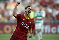 Football, Serie A: AS Roma - Sassuolo, Olympic stadium, Rome, September 15, 2019. <br /> Roma's Henrix Mikhitaryan celebrates after scoring during the Italian Serie A football match between Roma and Sassuolo at Olympic stadium in Rome, on September 15, 2019.<br /> UPDATE IMAGES PRESS/Isabella Bonotto