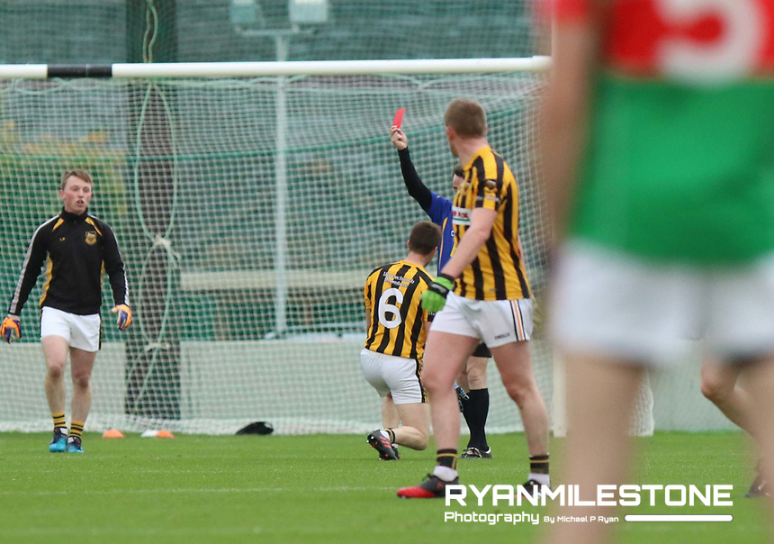 2017 Mid Tipperary Senior Football Final,<br /> Loughmore/Castleiney vs Upperchurch/Drombane,<br /> Saturday 9th September 2017,<br /> Littelton, Co Tipperary,<br /> Upperchurch/Drombane's Colm Ryan is sent of by Referee Sean Everard.<br /> Photo By: Michael P Ryan