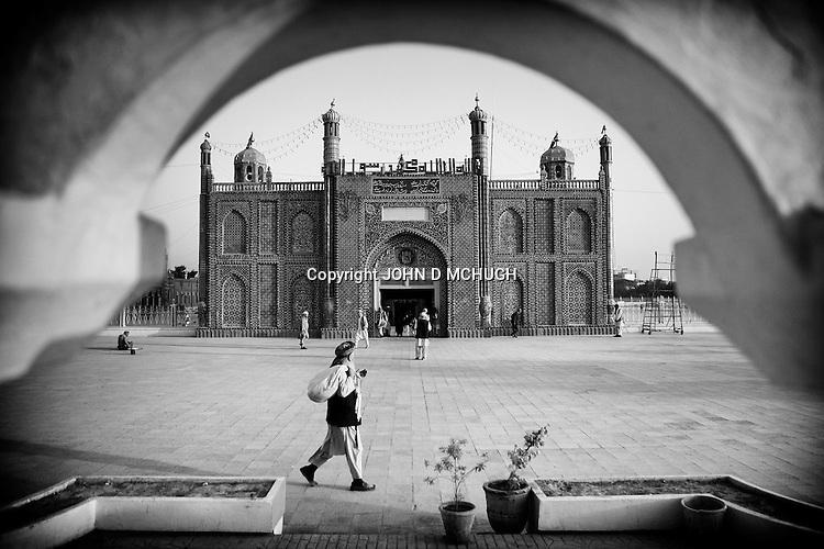 A general view of the Blue Mosque in Mazar-e Sharif, 26 September 2013. (John D McHugh)