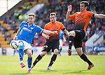 St Johnstone v Dundee United...19.04.14    SPFL<br /> Steven MacLean and Gavin Gunning<br /> Picture by Graeme Hart.<br /> Copyright Perthshire Picture Agency<br /> Tel: 01738 623350  Mobile: 07990 594431