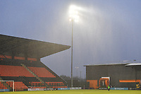 Heavy rain comes down General view of the Hive Stadium during Barnet vs Bromley, Vanarama National League Football at the Hive Stadium on 14th November 2020