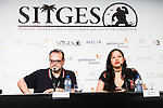 "Jordi Sanchez Navarro and the director of the film, Anna Biller during the press conference of the presentation of the film ""The Love Witch"" at the Festival de Cine Fantastico de Sitges in Barcelona. October 08, Spain. 2016. (ALTERPHOTOS/BorjaB.Hojas)"