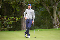 1st October 2021; Kingsbarns Golf Links, Fife, Scotland; European Tour, Alfred Dunhill Links Championship, Second round; Billy Horschel of the USA on the eleventh green at Kingsbarns Golf Links