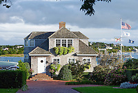 Home overlooking Edgartown harbor, Martha's Vineyard, Massachusetts, USA