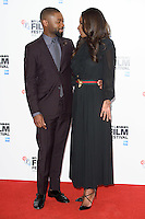 """David Oyelowo and director, Amma Asante<br /> at the London Film Festival photocall for the opening film, """"A United Kingdom"""", Mayfair HotelLondon.<br /> <br /> <br /> ©Ash Knotek  D3159  05/10/2016"""