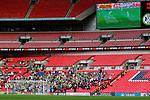 Tranmere Rovers 1 Forest Green Rovers 3, 14/05/2017. Wembley Stadium, Conference play off Final. The sparsely populated Forest Green end during the Vanarama Conference play off Final  between Tranmere Rovers v Forest Green Rovers at the Wembley. Photo by Paul Thompson.