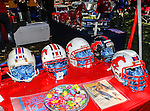 Southern Methodist Mustangs memorabilia on display before the game between the Memphis Tigers and the Southern Methodist Mustangs at the Gerald J. Ford Stadium in Dallas, Texas. SMU defeats Memphis 44 to 13.