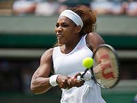 27-06-13, England, London,  AELTC, Wimbledon, Tennis, Wimbledon 2013, Day four, Serena Williams (USA)<br /> <br /> <br /> <br /> Photo: Henk Koster