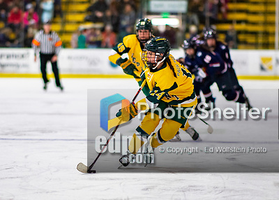 8 February 2020: University of Vermont Catamount Forward Ali O'Leary, a Senior from Reading, MA, in second period action against the University of Connecticut Huskies at Gutterson Fieldhouse in Burlington, Vermont. The Huskies defeated the Lady Cats 4-2 in the first game of their weekend Hockey East series. Mandatory Credit: Ed Wolfstein Photo *** RAW (NEF) Image File Available ***