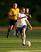 Boston Breakers midfielder Heather O'Reilly (9) in her debut game for the team.  The Boston Breakers beat the New York Fury 2-0 at Dilboy Stadium