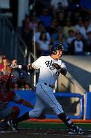 Yogey Perez-Ramos #17 of the Hillsboro Hops bats against the Spokane Indians at Hillsboro Ballpark on July 22, 2013 in Hillsboro Oregon. Spokane defeated Hillsboro, 11-3. (Larry Goren/Four Seam Images)